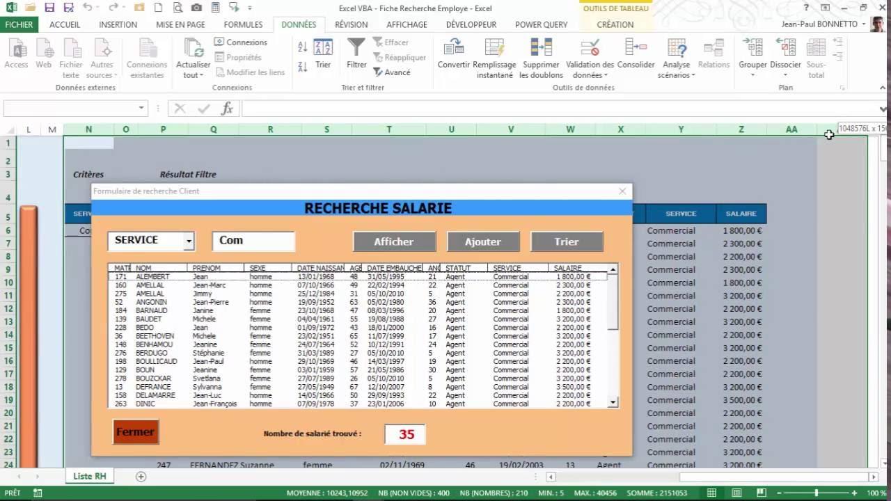 Excel vba cr er un formulaire de recherche multi for Ouvrir excel dans une nouvelle fenetre