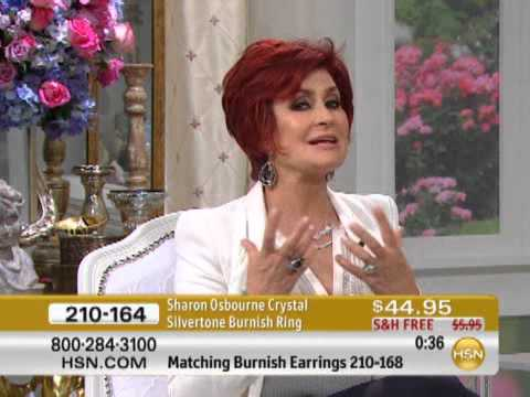 Sharon Osbourne Jewelry Collection Black Diamond Color Crystal Silvertone Burnish Ring