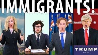 IMMIGRANTS! Feat. Donald Trump & Tony Abbott [RAP NEWS 34]