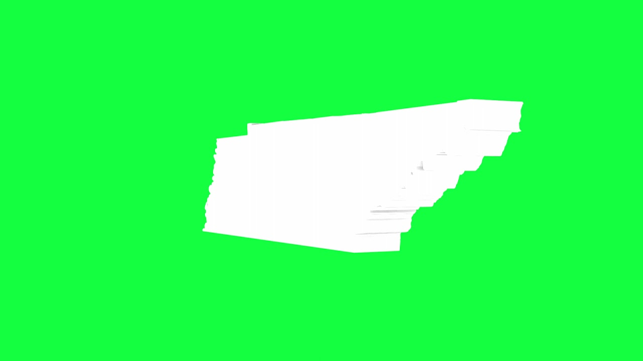 Tennessee USA Outline Green Screen Animation Loop