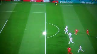 Raheem steerling funny miss hahahaha funny moment in world cup russia 2018