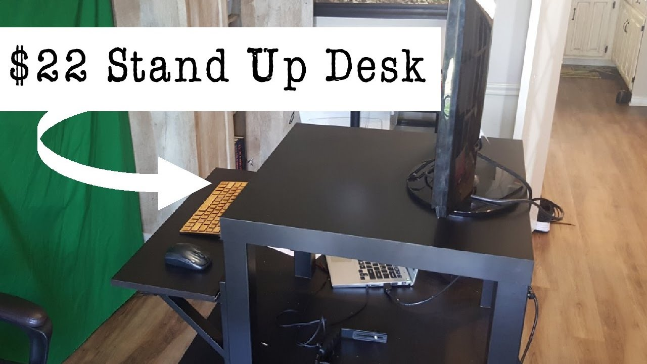 How To Build Your Own Stand Up Desk For 22 From Ikea Diy Project