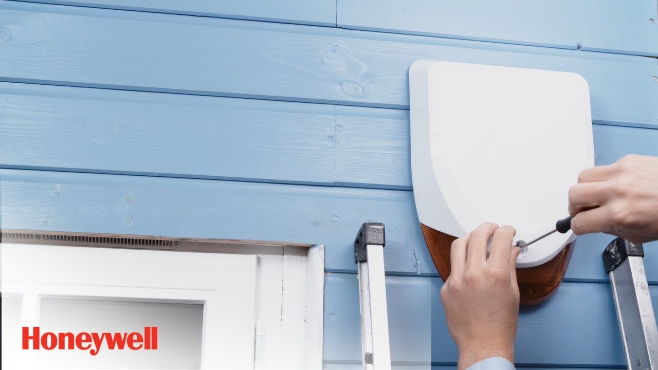 hight resolution of wireless battery siren installation evohome security honeywell home