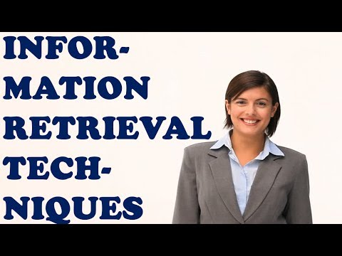 INFORMATION RETRIEVAL TECHNIQUES