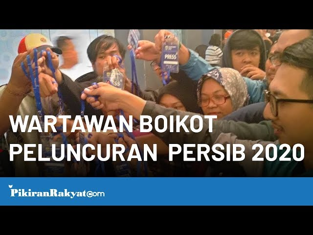 Wartawan Boikot Peluncuran Tim Persib Bandung 2020