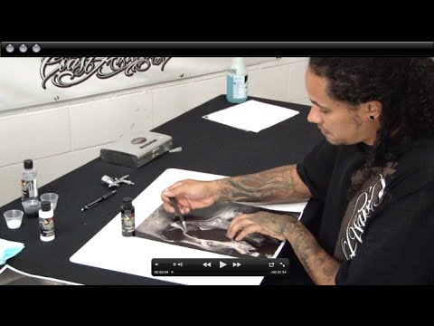 Custom Airbrush Stencil Making the Cory Saint Clair Way