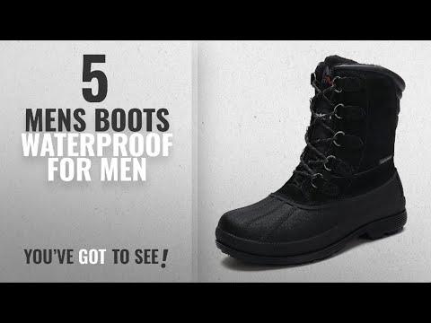 Top 10 Mens Boots Waterproof [ Winter 2018 ]: arctiv8 Men's nortiv8 170390-M Black Insulated