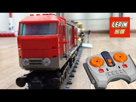 ГРУЗОВОЙ ПОЕЗД LEGO / LEPIN - ПОЛНЫЙ ОБЗОР ЖЕЛЕЗНОЙ ДОРОГИ