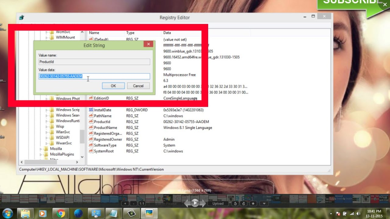 find windows 8 product key without software