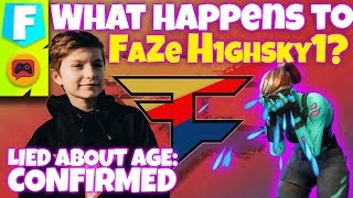 FaZe Clan LIES About H1ghSky1's Age - What Will Happen to Him?