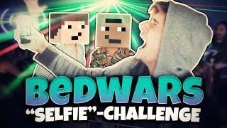 """DIE """"SELFIE""""-CHALLENGE mit GOMME & MAX ★ Minecraft: BEDWARS   Herr Bergmann"""