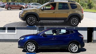 Dacia Duster 4WD vs Nissan Qashqai All Mode - 4x4 test on rollers - AUTO & LOCK
