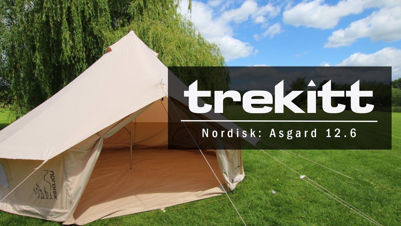 Inside Look u0026 Setup Nordisk Asgard 12.6m Cotton Tent & Inside Look u0026 Setup: Nordisk Asgard 12.6m Cotton Tent - YouTube