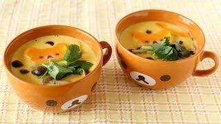 Chawanmushi (3 Steps Savory Egg Custard) 茶碗蒸しの作り方 - Ochikeron - Create Eat Happy