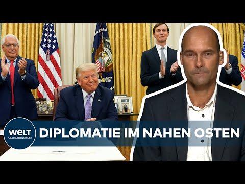 USA Vermittelte: ISRAEL Und VAE Normalisieren Diplomatische Beziehungen