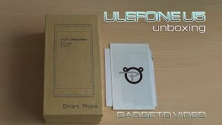 ulefone u5 unboxing