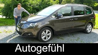 Seat Alhambra Facelift FULL REVIEW test driven 2016 - Autogefühl