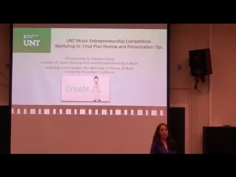 UNT Music Entrepreneurship Workshop III featuring Dr. Ron McCurdy