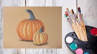 Как нарисовать тыкву пастелью! #Dari_Art(В этом видео предлагаю создать яркие тыквы пастелью! Свои идеи к видео урокам оставляйте в группе ВК https://vk.co..., 2015-10-26T11:00:00.000Z)