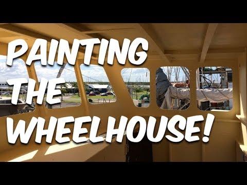 PAINTING THE WHEEL HOUSE & BATHROOM WALLS - BUILDING BRUPEG (Ep. 22)