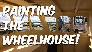 Painting the wheelhouse and bathroom - BUILDING BRUPEG (Ep. 22)