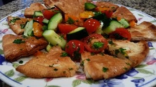 "Lebanese Bread Salad ""fattoush"""