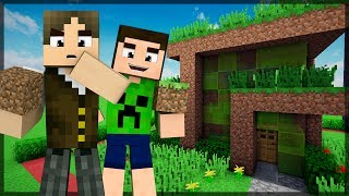 Minecraft: QUEM CONSTRÓI A CASA DE TERRA MAIS BONITA?!