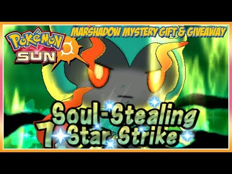 Pokémon Sun and Moon Marshadow Mystery Gift Event & Giveaway