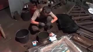 Процесс травления медным купоросом ЧАСТЬ ВТОРАЯ!Мастерская художественной ковки(Как нанести изображения на железо