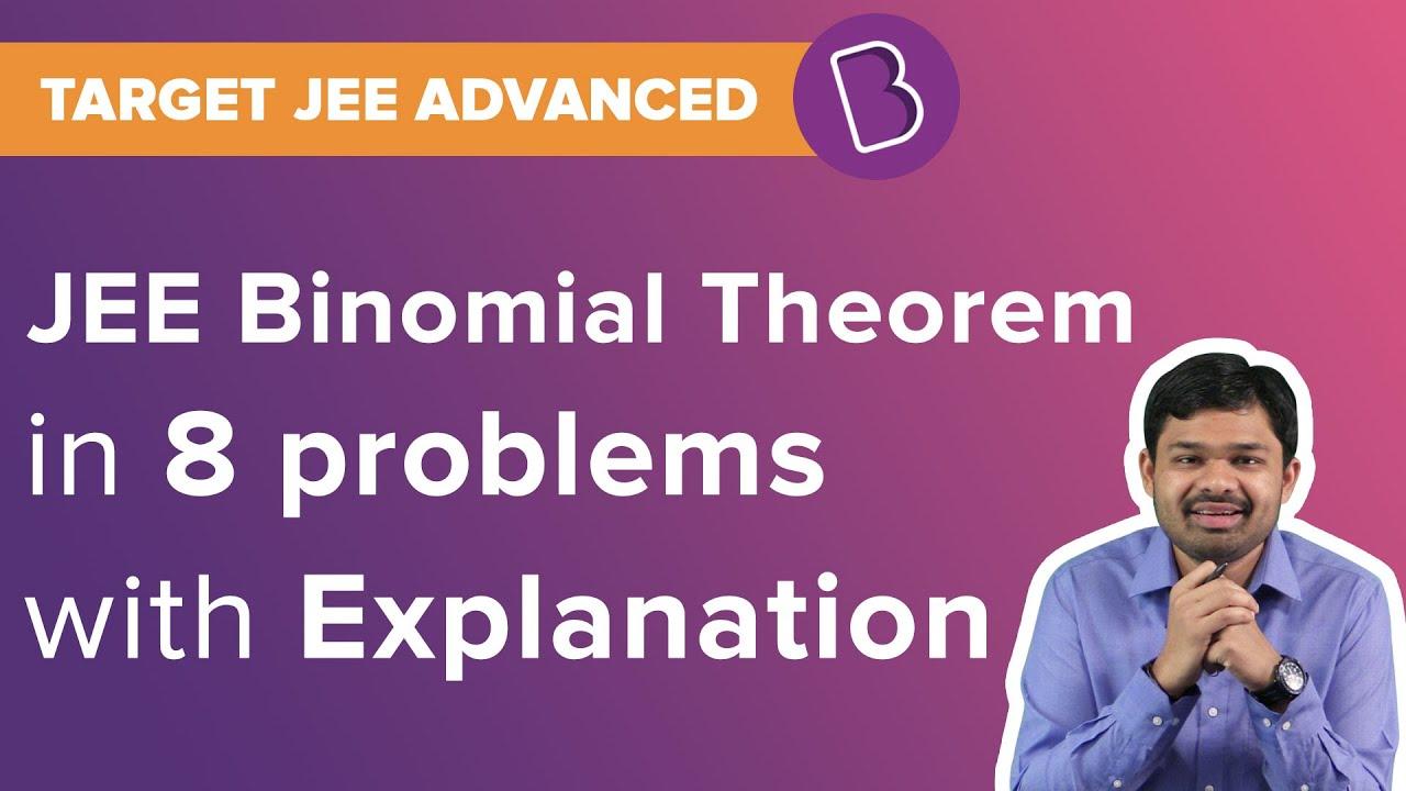 JEE Binomial Theorem | Algebra | Solved Questions | Target JEE | JEE Maths