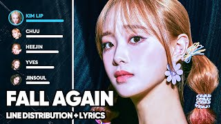 LOONA - Fall Again 기억해 (Line Distribution + Lyrics Color Coded) PATREON REQUESTED