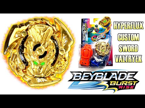 NEW HYPERFLUX GOLD SWORD VALTRYEK V5 ᶜᵘˢᵗᵒᵐ BEYBLADE BURST RISE REVIEW TEST BATTLES GOLD TURBO