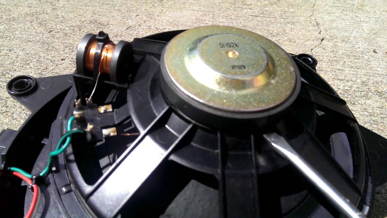 Mercedes slk speaker repair fix - YouTube