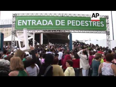 'Pop-star' priest opens big new Brazil church