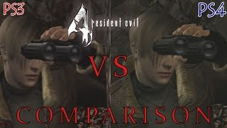 Resident Evil 4 HD - PS4 VS PS3 | Graphical & Gameplay Comparison [Full 1080p HD]