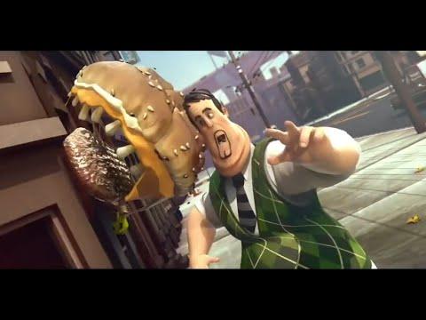 Đừng xem! Phim hoạt hình KINH DỊ ngắn hay ★ Ma ăn thịt người Hamburger