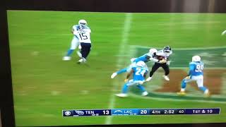 Dion Lewis 61-Yard run for a amazing play! Chargers vs Titans highlights week 7