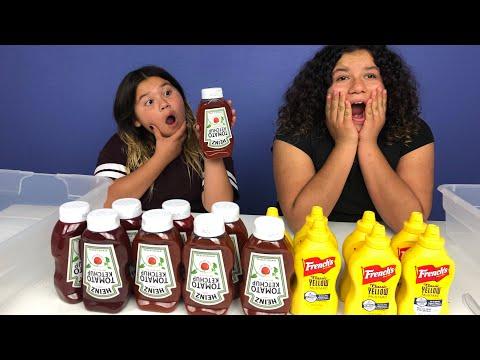 Don't Choose the Wrong KETCHUP VS MUSTARD Slime Challenge