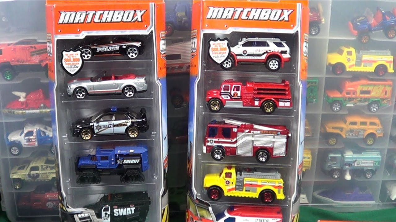 2013 Matchbox Police And Emt 5 Packs Youtube