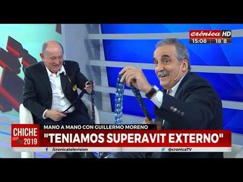 Guillermo Moreno con Chiche Gelblung  Cronica TV 23/04/19