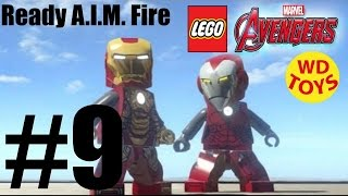 LEGO MARVEL'S AVENGERS - Level 9 - Ready A.I.M. Fire! Game, Gameplay, Walkthrough By WD Toys