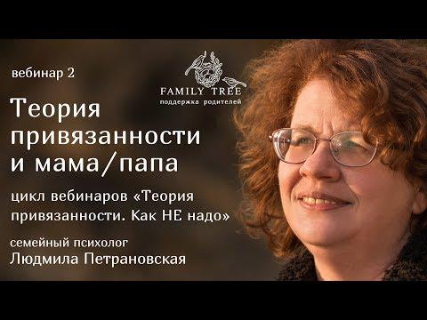 Людмила Петрановская «Теория привязанности и мама/папа». Фрагмент вебинара