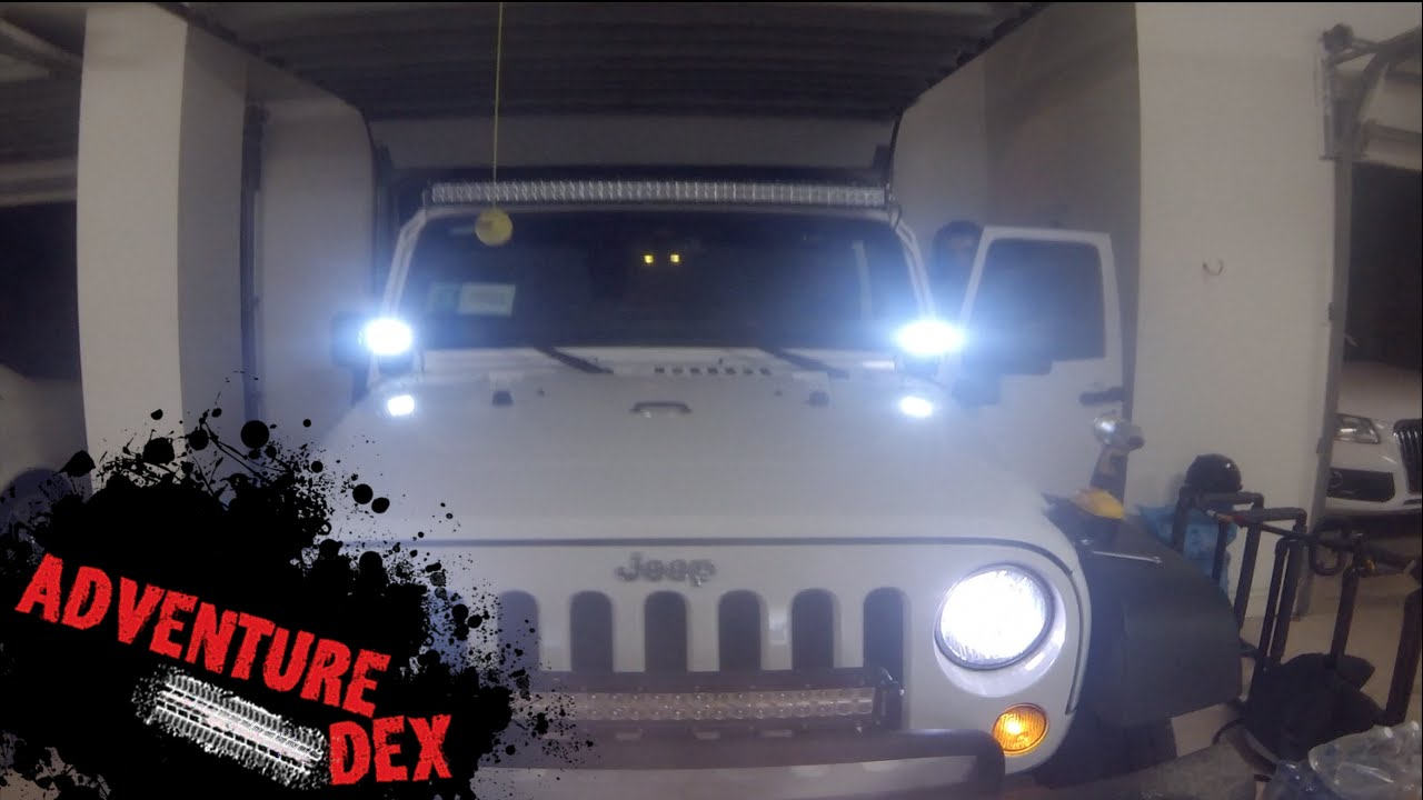 jeep wrangler windshield led s by auxbeam installation and review rh youtube com wiring led light bar jeep jk installing led light bar jeep wrangler