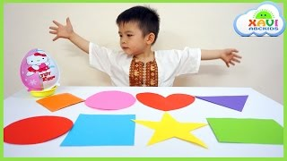 Learn colors and learn shapes with colorful shapes - Xavi ABCKids