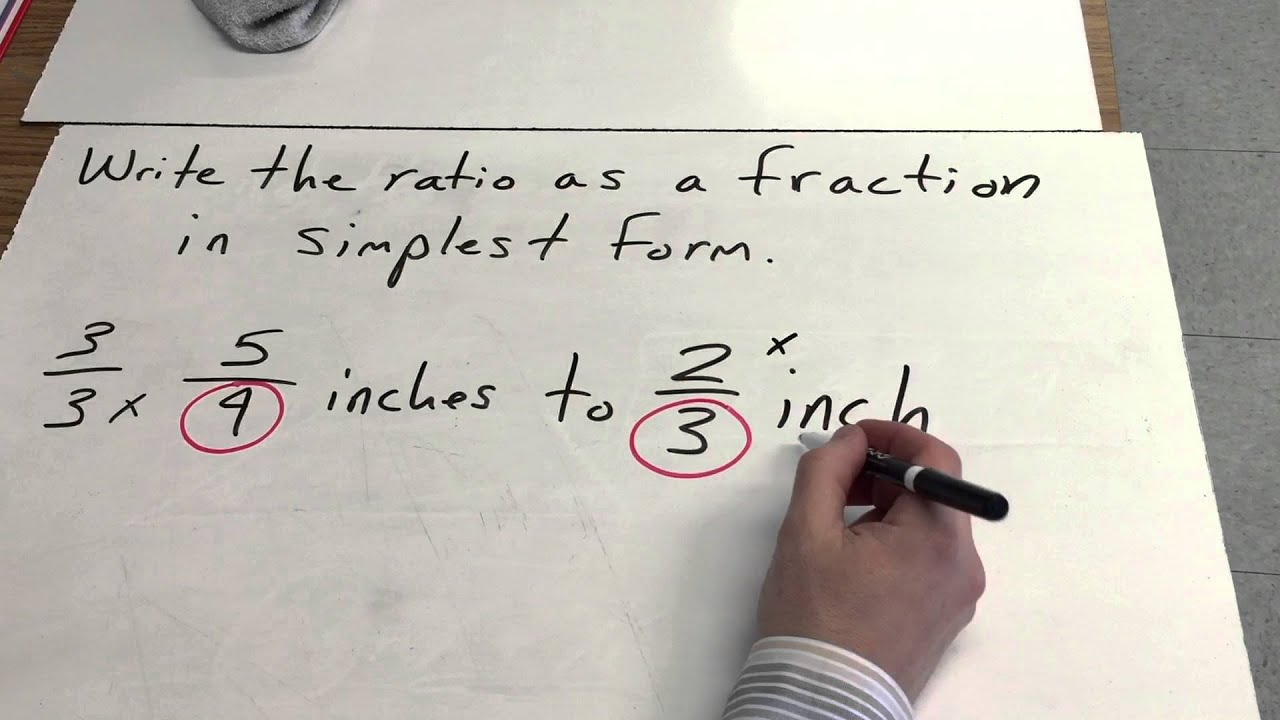 Ratios of Fractions in Simplest Form - YouTube