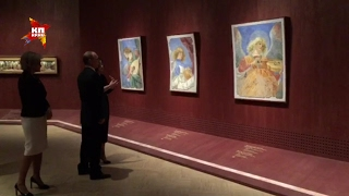 Владимир Путин посетил выставку «Шедевры Ватикана» в Третьяковской галерее
