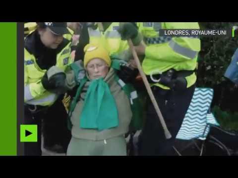 Londres : la police brutalise une mamie de 84 ans lors d'une manifestation