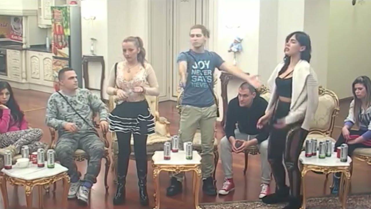 Énorme Bagarre dans la télé-réalité Serbe PAROVI # Tijane VS Sandre