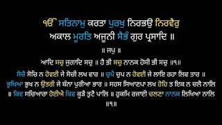 Full Morning Nitnem | Read Along | Bhai Jarnail Singh