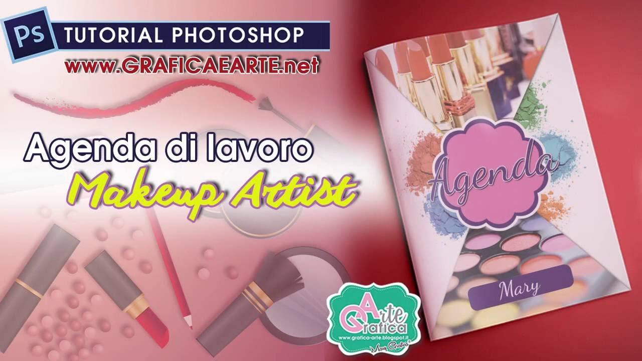 Ben noto CREARE copertina agenda di lavoro Makeup artist - Tut. Photoshop  GI41